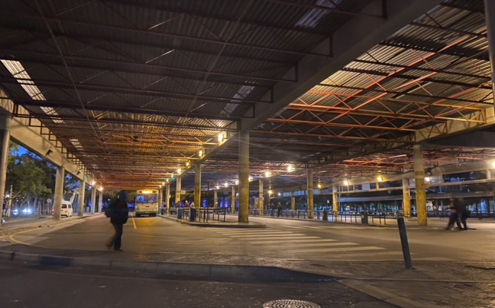 Scenes at the Cape Town station deck and Golden Arrow Bus terminus on the morning of Friday 27 March 2020, the first day of South Africa's 21-day lockdown. Picture: Shamiela Fisher/EWN.