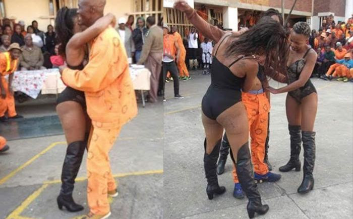An image circulated on social media of the prison strippers at the Johannesburg Correctional Centre. Picture: Twitter