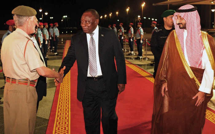 President Cyril Ramaphosa in Saudi Arabia on 12 July 2018. Picture: Qaanitah Hunter/EWN
