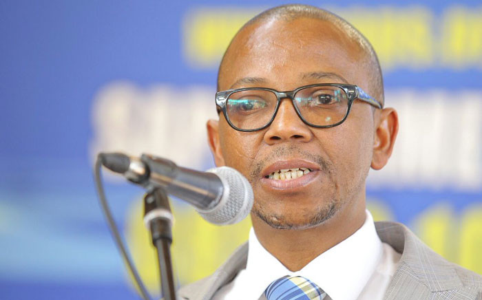 FILE: Deputy Police Minister Bongani Mkongi. Picture: Twitter/@SAPoliceService