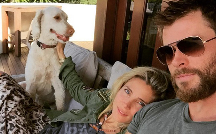 A screengrab of Elsa Pataky and her husband Chris Hemsworth. Picture: Instagram/@elsapatakyconfidential.