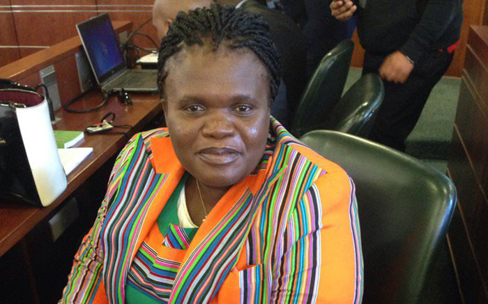 Minister of Communications Faith Muthambi in Parliament on 23 August 2016. Picture: Gaye Davis/EWN.