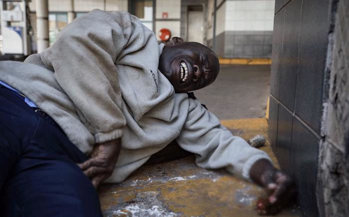 An injured man pictured during violent protests in Zimbabwe. Thomas Holder/EWN