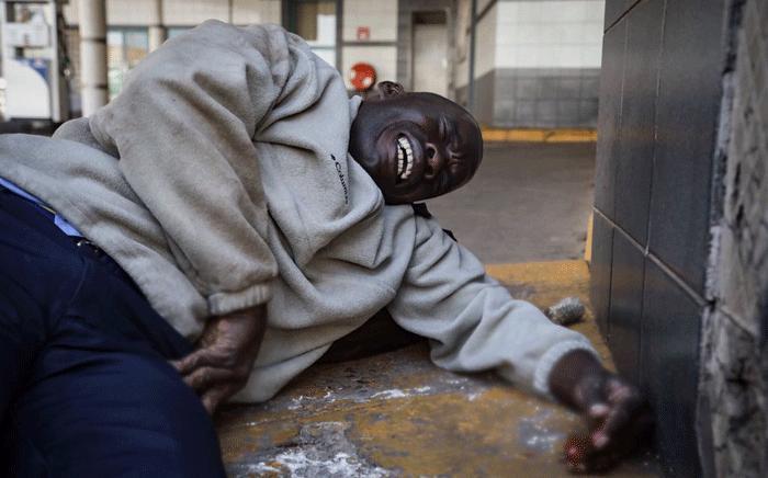 FILE: An injured man pictured during violent protests in Zimbabwe. Thomas Holder/EWN.