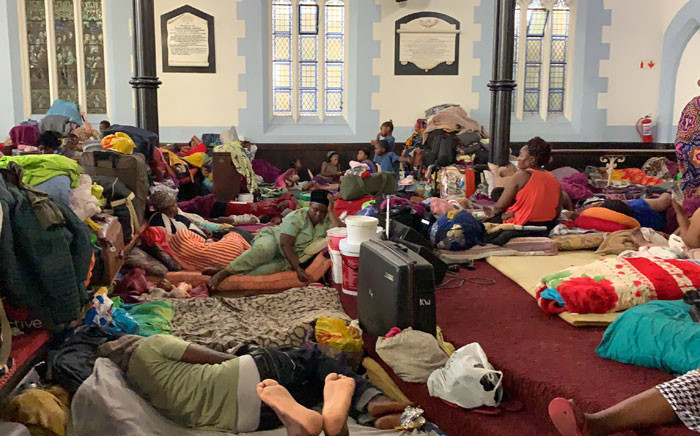 FILE: Foreign nationals are seen inside the Methodist Church in Cape Town on 10 December 2019. Picture: Kaylynn Palm/EWN