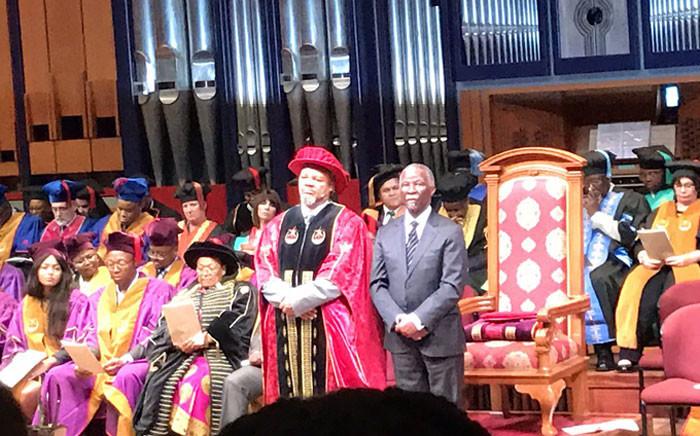 Unisa Chancellor and former president, Thabo Mbeki. Picture: EWN.