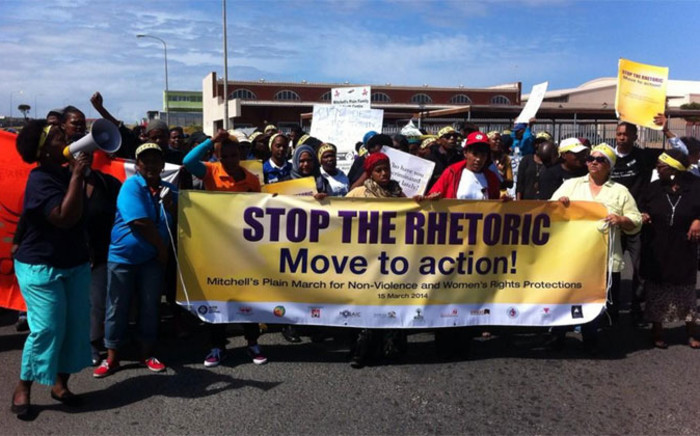 A group of women's rights activists marched in Mitchell's Plain on 15 October 2014. Picture: Chanel September/EWN.