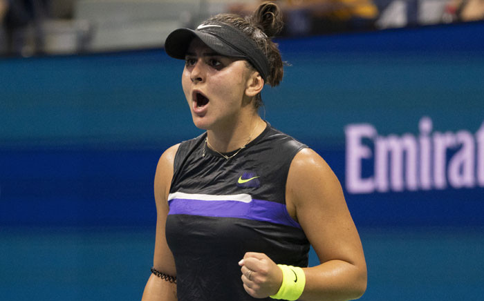 FILE: Bianca Andreescu of Canada celebrates a point against Elise Mertens of Belgium during their Quarter-finals Women's Singles match at the 2019 US Open at the USTA Billie Jean King National Tennis Center in New York on 4 September 2019. Picture: AFP