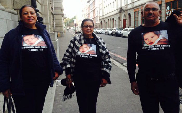 The Nurse family arrives at the Western Cape High Court for the sentencing proceedings of a Lavender Hill woman convicted if kidnapping Zephany Nurse in 1997. Picture: Shamiela Fisher/EWN.