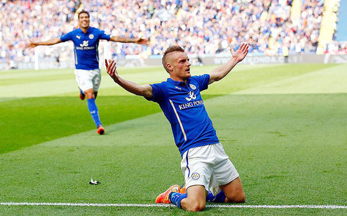FILE: Leicester City's Jamie Vardy celebrates after scoring against Manchester United in the Premier League. Picture: Official Premier League Facebook page.