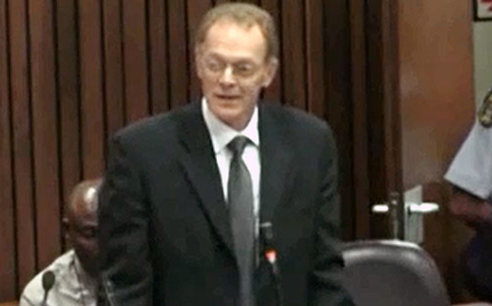 State pathologist Professor Gert Saayman during the Oscar Pistorius murder trial at the High Court in Pretoria on 10 March 2014.