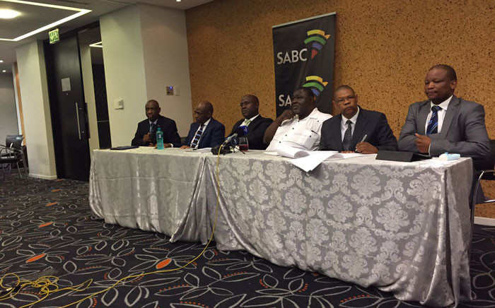 The SABC delegation's briefing the media following their walkout in Parliament on 07 December 2016. Picture: Monique Mortlock/EWN.