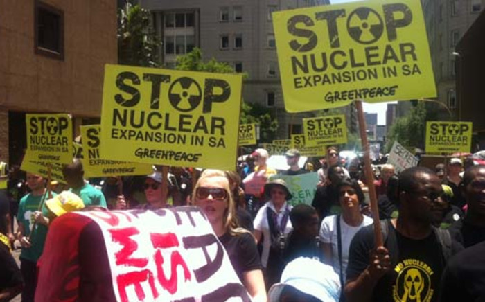 Thousands of activists protested against the expansion of nuclear projects in South Africa on 10 November 2012. Picture: Theo Nkonki/EWN