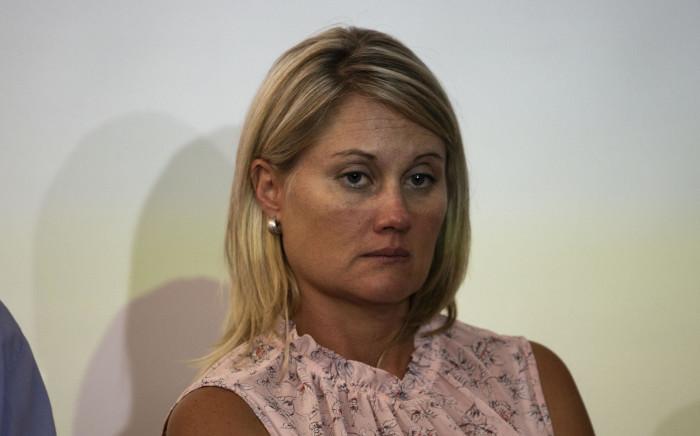 Elana Barkhuizen, the suspended teacher from Laerskool Schweizer Reneke.  Picture: Christa Eybers/EWN