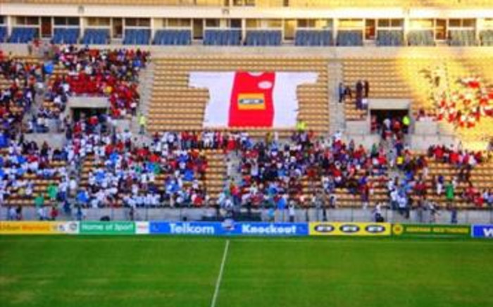 Ajax supports at the Cape Town Stadium. Picture: Eyewitness News