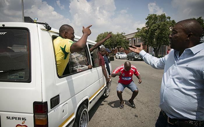 FILE: Vereeniging taxi drivers celebrating the outcome of the case against 36 taxi drivers in Vereeniging arrested for public violence which was provisionally withdrawn, pending an investigation on 22 March 2019. Pictures: Sethembiso Zulu/EWN