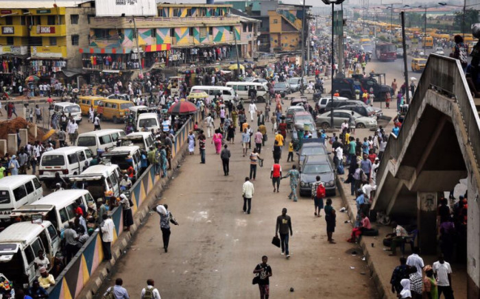 FILE: A popular and busy street in Nigeria. Supplied