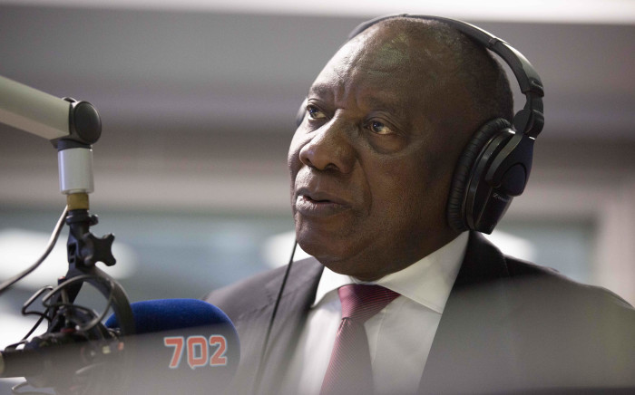 President Cyril Ramaphosa talks to Radio 702's Xolani Gwala on 13 December 2018. Picture: Abigail Javier/EWN