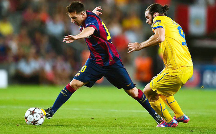 Barca's Leo Messi in action during a Champions League game against Apoel FC. Picture: Leo Messi Facebook page.