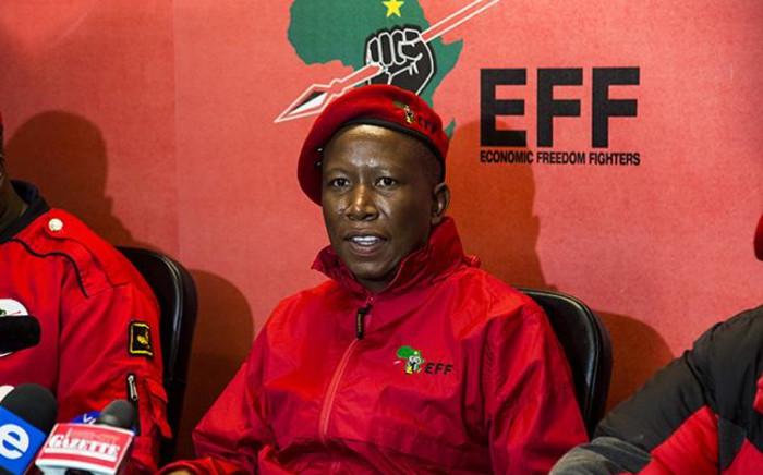 EFF leader Julius Malema briefs the media on 8 March 2018. Picture: Kayleen Morgan/EWN