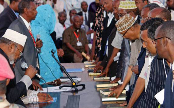FILE: New Members of Parliament are being sworn in, in Somalia. Picture: AFP.