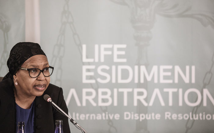 FILE: Former Gauteng Health MEC Qedani Mahlangu testifies at the Life Esidimeni hearing on 22 January 2018 in Parktown. Picture: AFP