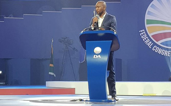 Democratic Alliance (DA) leader Mmusi Maimane at the DA congress on Saturday 8 March 2018. Picture: Twitter/@Our_DA
