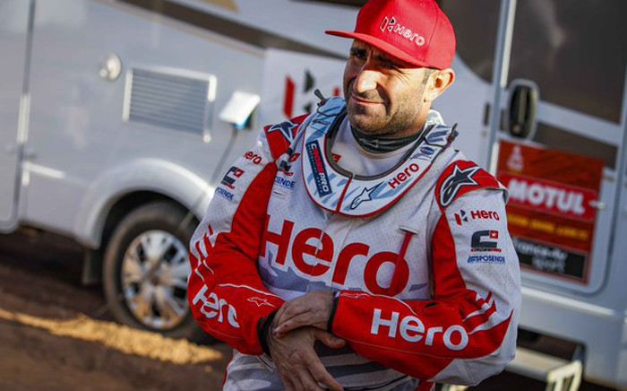 The 40-year-old  Paulo Goncalves suffered the fatal accident after 276 kilometres of the day's ride at the Dakar rally. Picture: Twitter/Dakar Rally