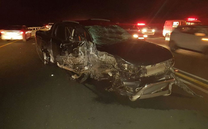 N2 Nonoti head on collision leaves two people dead in KwaZulu-Natal. Picture: Twitter @IPSSRescue.