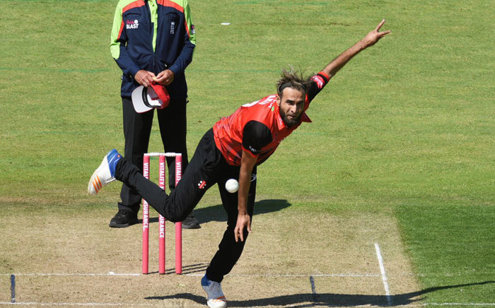 Imran Tahir in action for the Durham Jets. Picture: @DurhamCricket/Twitter