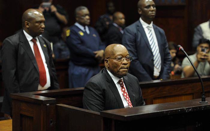 Former South African President Jacob Zuma appeared in the Durban High Court on 8 June 2018. He is charged with 16 counts that include fraud' corruption and racketeering. Picture: Felix Dlangamandla/Pool