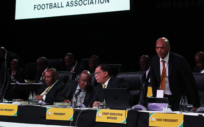 FILE: Safa President Danny Jordaan during the association's election at the Sandton Convention Centre in Johannesburg. Picture: Safa.