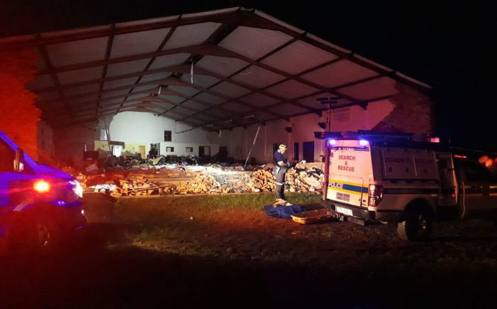 The Pentecostal Church in Ndlangubo in KwaZulu-Natal after a structural collapse on 19 April 2019. Picture: Supplied