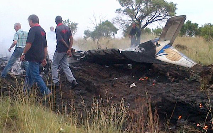 Two people have been killed in a plane crash on the R512 near Lanseria Airport. Picture: @_ArriveAlive.