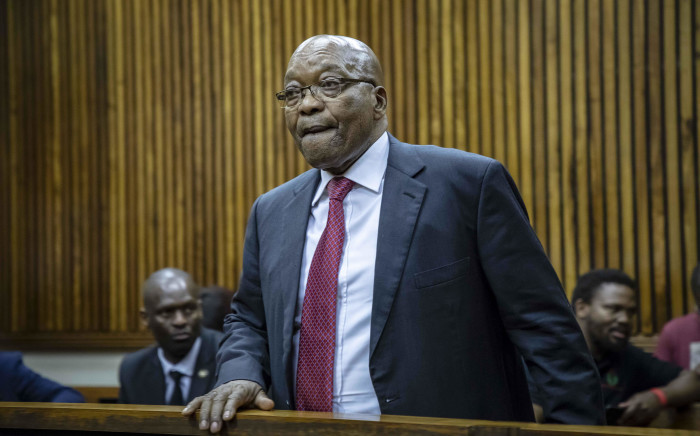 Former president Jacob Zuma in the Randburg Magistrates Court to support his son Duduzane on 26 October 2018. Picture: Thomas Holder/EWN