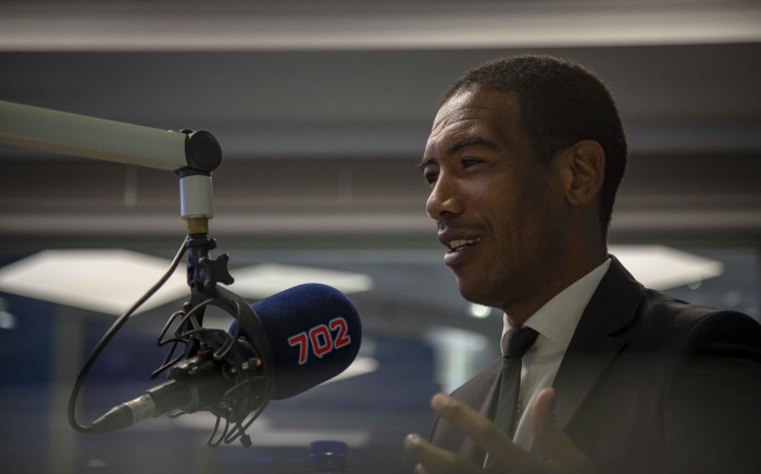 FILE: Former Springbok wing and SuperSport analyst Ashwin Willemse talks to Eusebius McKaiser in the Talk Radio 702 studio. Picture: Thomas Holder/EWN.