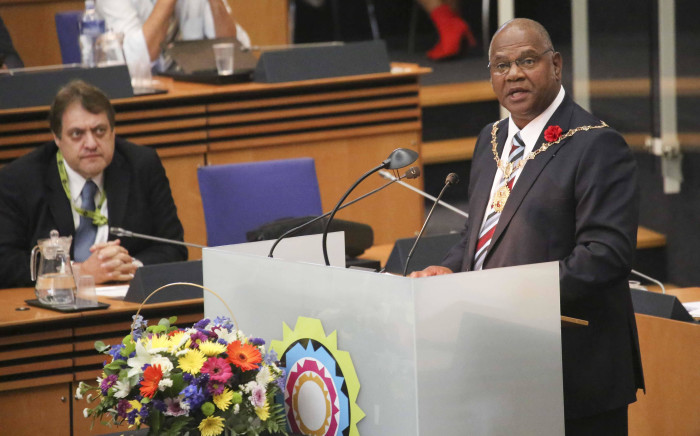 Cape Town Mayor Dan Plato addresses his first council meeting after being elected as Mayor. Picture: Cindy Archillies/EWN
