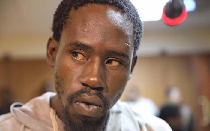 Aubrey Manaka accused of raping and killing Limpopo student Precious Ramabulana appears in Molemole Magistrates Court on 2 December 2019. Picture: Kayleen Morgan/ EWN