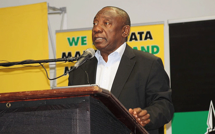 President Cyril Ramaphosa addresses ANC delegates at the party's manifesto consultative workshop on 25 June 2018. Picture: @MYANC/Twitter