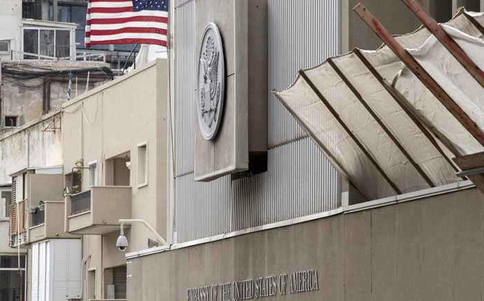 A picture shows the exterior of the US embassy in Tel Aviv on 6 December 2017. President Donald Trump is set to recognise Jerusalem as Israel's capital, upending decades of careful US policy and ignoring dire warnings from Arab and Western allies alike of a historic misstep that could trigger a surge of violence in the Middle East. Picture: AFP.