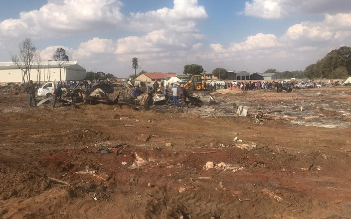 An informal settlement in Pomona after a fire on 30 September 2019 destroyed more than 200 homes and left around 900 people without shelter. Picture: Bonga Dlulane/EWN