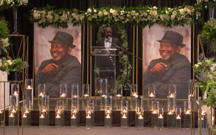 Stanley Mabuza says a few words at the memorial of Jabu Mabuza on 21 June 2021. Picture: Mia Lindeque/Eyewitness News