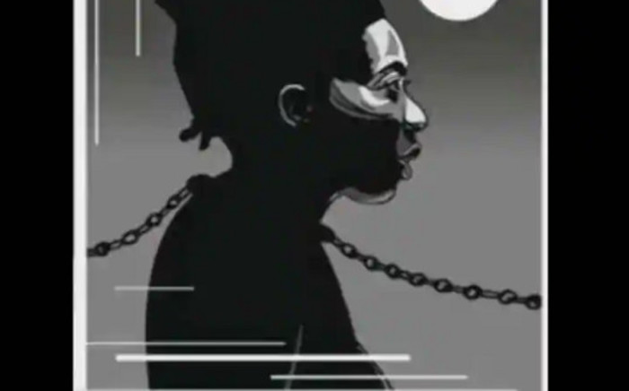 The magazine, 'Valeurs Actuelles', which caters to readers on the right and far-right, showed Danielle Obono in chains with an iron collar on her neck to illustrate a seven-page imaginary story. Picture: @Deputee_Obono/Twitter.