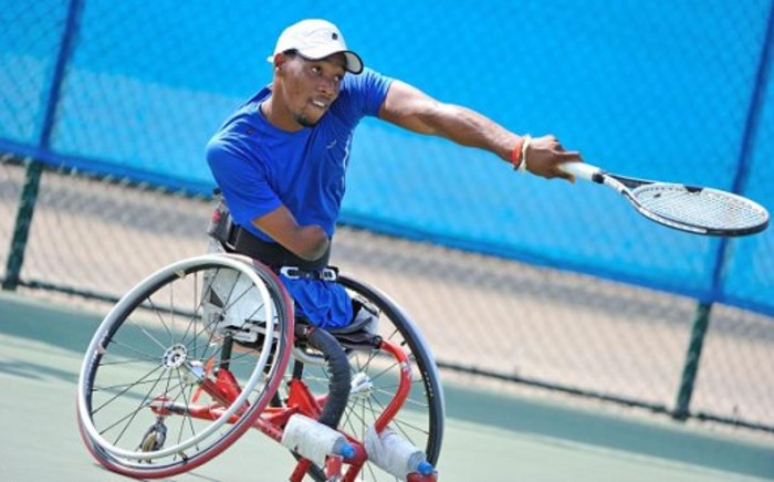 South African quadriplegic tennis star Lucas Sithole. Picture: Facebook.com.