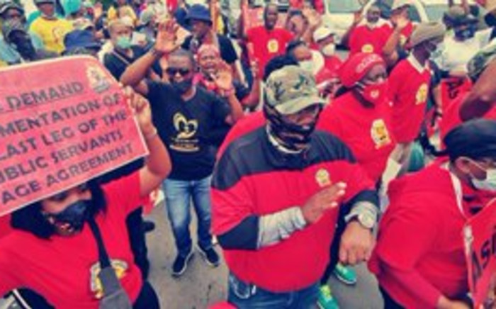 Satfu members gathered in different parts of the country to demonstrate against economic challenges faced by South Africans, including unemployment. Picture: Twitter/@SAFTU_media