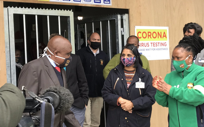 Deputy Health Minister Dr Joe Phaahla officially opened Groote Schuur Hospital's COVID-19 triage and testing centre on 12 June 2020. Picture: Kevin Brandt/EWN