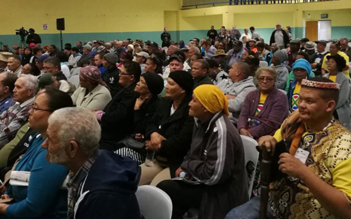 Springbok residents attend the first day of public hearings on whether or not land should be expropriated without compensation on 26 June 2018. Picture: @ParliamentofRSA/Twitter