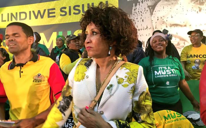 FILE: ANC presidential hopeful Lindiwe Sisulu at an event in Kliptown on 22 July 2017. Picture: Katleho Sekhotho/EWN