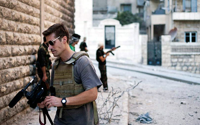US Journalist James Foley in Syria in 2012. Picture: Manu Brabo/www.freejamesfoley.org.