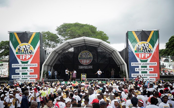 Inkatha Freedom Party launched its 2019 election manifesto in Chatsworth on 10 March. Picture: Picture: Sethembiso Zulu/EWN.